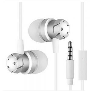 High Quality Stereo Bass EarPhones with MIC In-Ear Noise Cancelling HeadPhones - white