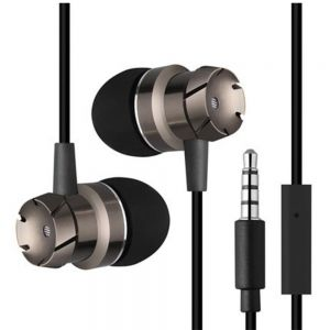 High Quality Stereo Bass EarPhones with MIC In-Ear Noise Cancelling HeadPhones - black