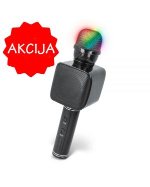 Otroški mikrofon za karaoke BMS-400 z vgrajenim bluetooth zvočnikom in LED osvetlitvijo
