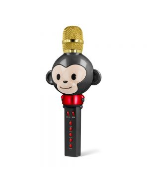 Mikrofon Animal z vgrajenim bluetooth zvočnikom AMS-100 črn