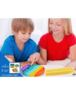 Push bubble fidget - mehurčki za pokanje - zabavna in antistresna igrača (3 v paketu)
