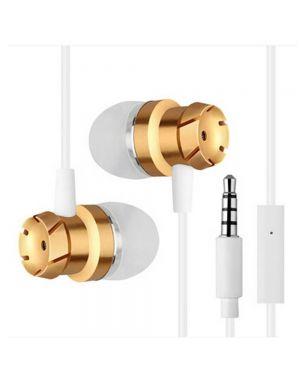 Slušalke za telefon stereo bas - zlate barve