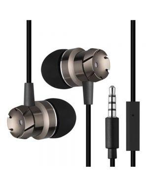 Slušalke za telefon stereo bas - črne barve