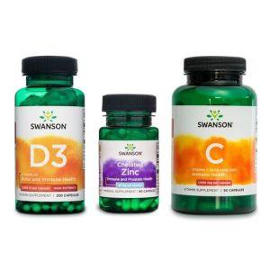 Vitamin C, vitamin D in cink - paket za odpornost